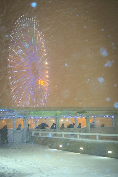 雪のみなとみらい夜景スナップ