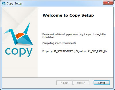 Copyアプリインストール