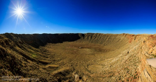 アメリカ横断ドライブ アリゾナ大隕石孔