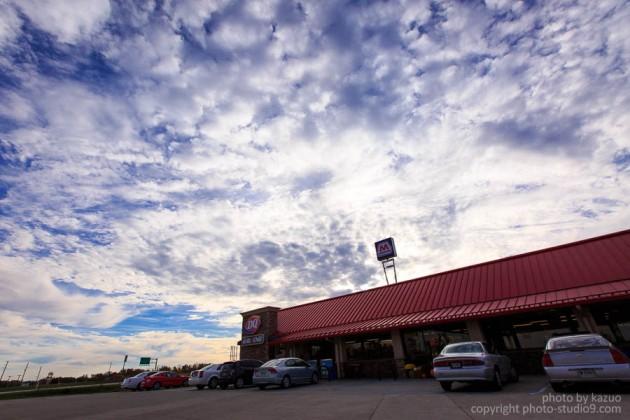 アメリカ横断ドライブ ガソリンスタンド