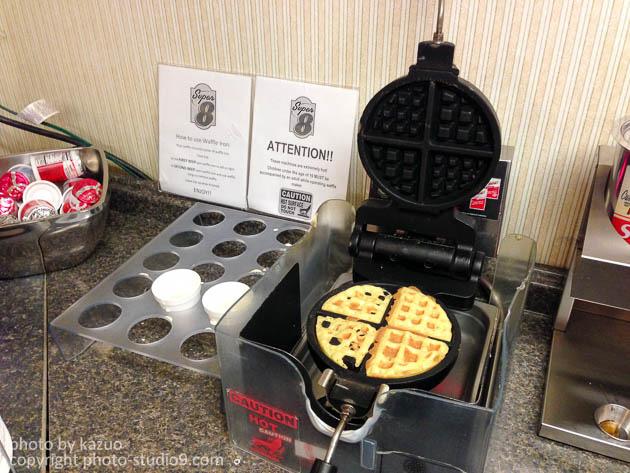 アメリカモーテルの朝食